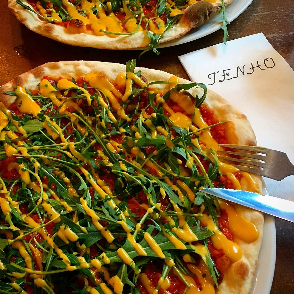 "Photo of Tenho Restobar  by <a href=""/members/profile/SeitanSeitanSeitan"">SeitanSeitanSeitan</a> <br/>Vegan pizza from lunch menu <br/> August 13, 2017  - <a href='/contact/abuse/image/97329/292304'>Report</a>"
