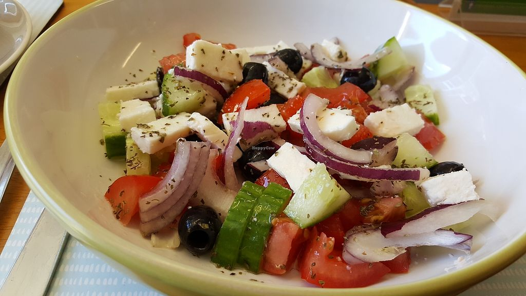 """Photo of Nicky's Totally Vegan  by <a href=""""/members/profile/roxycagirl"""">roxycagirl</a> <br/>the greek salad is delicious! <br/> August 16, 2017  - <a href='/contact/abuse/image/97342/293227'>Report</a>"""