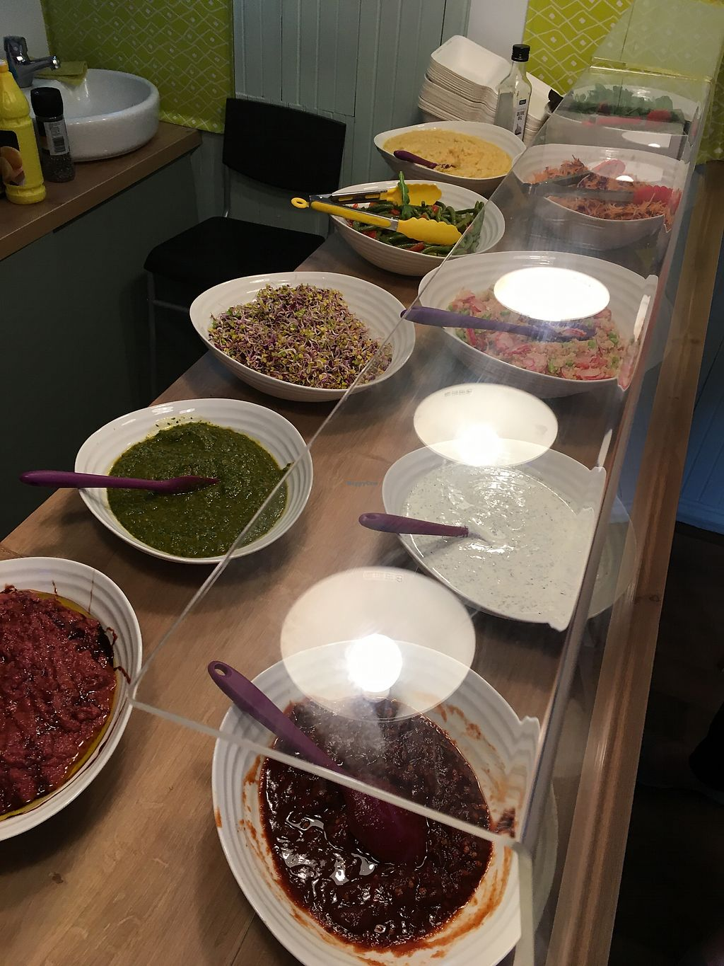 """Photo of The Salad Project  by <a href=""""/members/profile/Spaghetti_monster"""">Spaghetti_monster</a> <br/>Salad counter <br/> July 29, 2017  - <a href='/contact/abuse/image/97345/286082'>Report</a>"""
