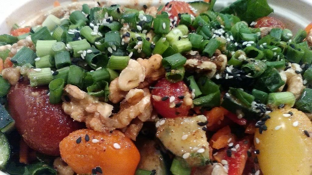"""Photo of Mother Juice - Newbury St  by <a href=""""/members/profile/foodfirst"""">foodfirst</a> <br/>Salad ordered at the restaurant in March 2018 <br/> March 7, 2018  - <a href='/contact/abuse/image/97387/367737'>Report</a>"""
