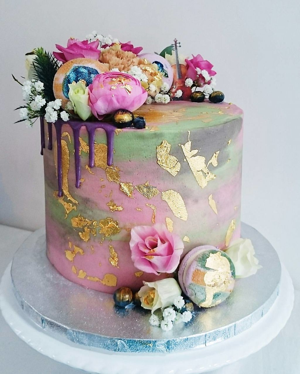 """Photo of Vic's Vegan Bakes  by <a href=""""/members/profile/VicBlandford"""">VicBlandford</a> <br/>Vegan celebration cake - Vic's Vegan Bakes, Hereford <br/> July 31, 2017  - <a href='/contact/abuse/image/97391/287079'>Report</a>"""