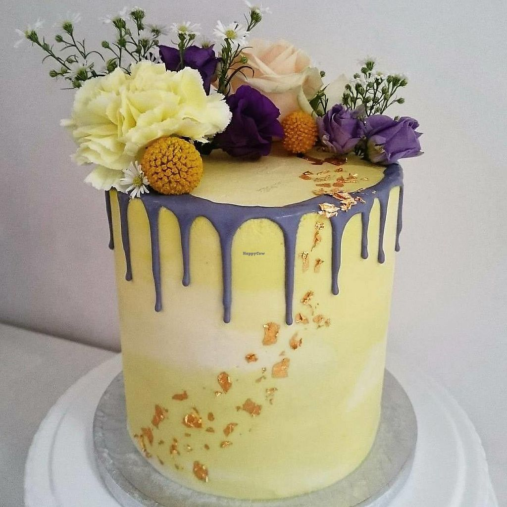 """Photo of Vic's Vegan Bakes  by <a href=""""/members/profile/VicBlandford"""">VicBlandford</a> <br/>Lemon and vegan lemon 'curd' cake <br/> July 31, 2017  - <a href='/contact/abuse/image/97391/287283'>Report</a>"""