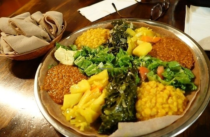 """Photo of Cafe Romanat  by <a href=""""/members/profile/MelodyVeganJoy"""">MelodyVeganJoy</a> <br/>veggie sampler <br/> March 26, 2018  - <a href='/contact/abuse/image/97408/376114'>Report</a>"""