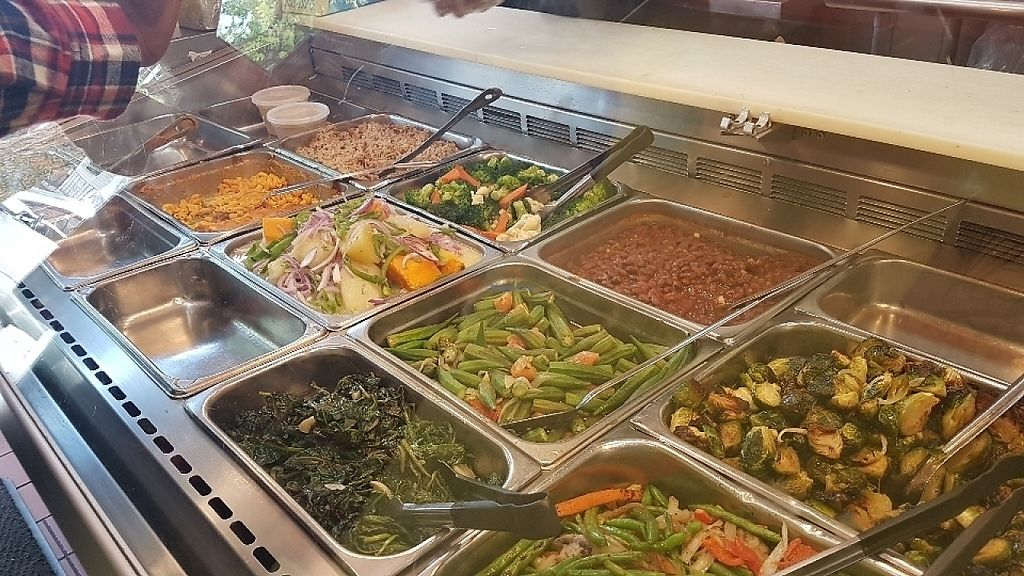 "Photo of Veggie Castle  by <a href=""/members/profile/unabashed"">unabashed</a> <br/>Veggie options along with MAC-N-CHEESE and drumsticks and ginger chicken. Select 4 options for  $8.75.  <br/> June 3, 2017  - <a href='/contact/abuse/image/9740/265465'>Report</a>"