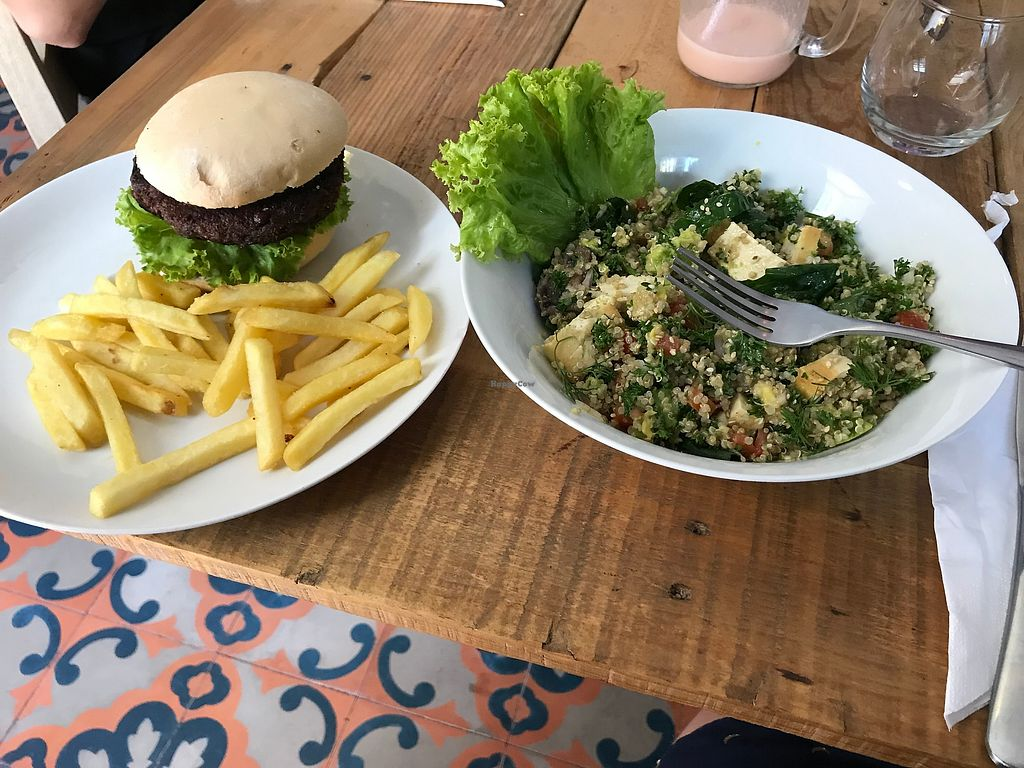 "Photo of Cafe Stepping Stone  by <a href=""/members/profile/daydreamer4life"">daydreamer4life</a> <br/>Vegetarian burger and a salad <br/> February 5, 2018  - <a href='/contact/abuse/image/97416/355176'>Report</a>"