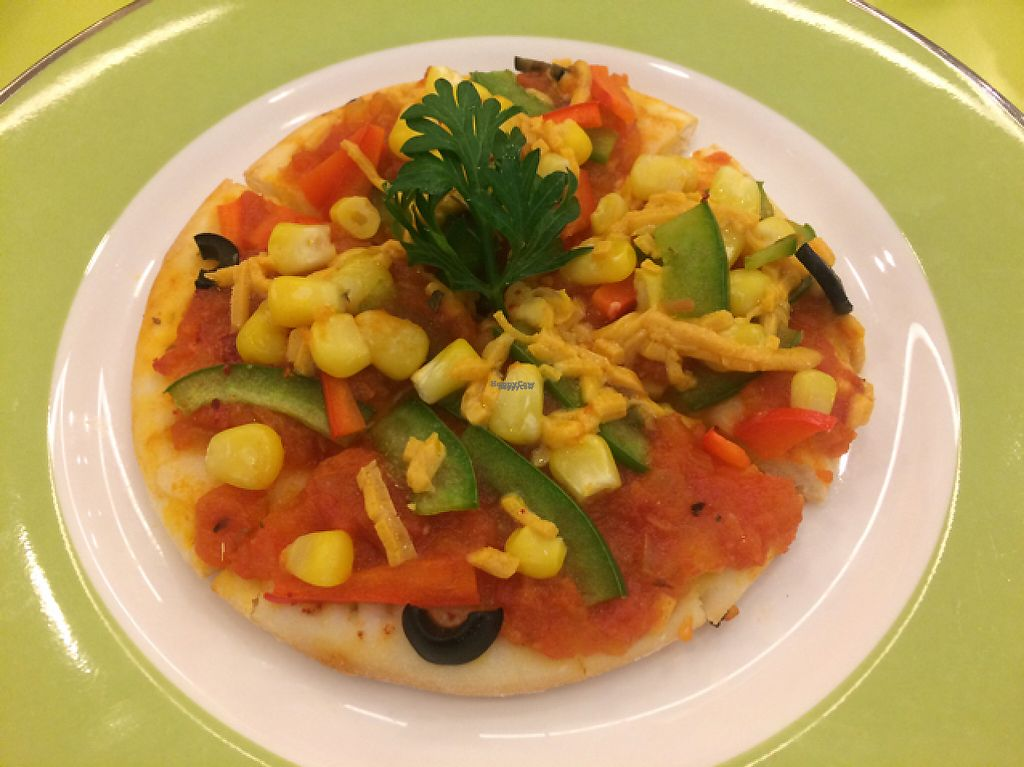 """Photo of Loving Hut Hoa Dang  by <a href=""""/members/profile/FatTonyBMX"""">FatTonyBMX</a> <br/>TINY pizza. Not worth it because of small size and boring taste <br/> February 11, 2017  - <a href='/contact/abuse/image/9742/225269'>Report</a>"""