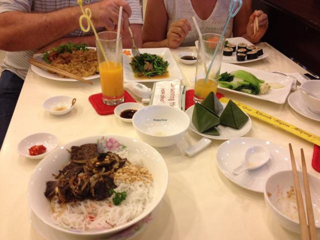 """Photo of Loving Hut Hoa Dang  by <a href=""""/members/profile/Kimxula"""">Kimxula</a> <br/>our meal at loving hut <br/> July 29, 2014  - <a href='/contact/abuse/image/9742/75409'>Report</a>"""