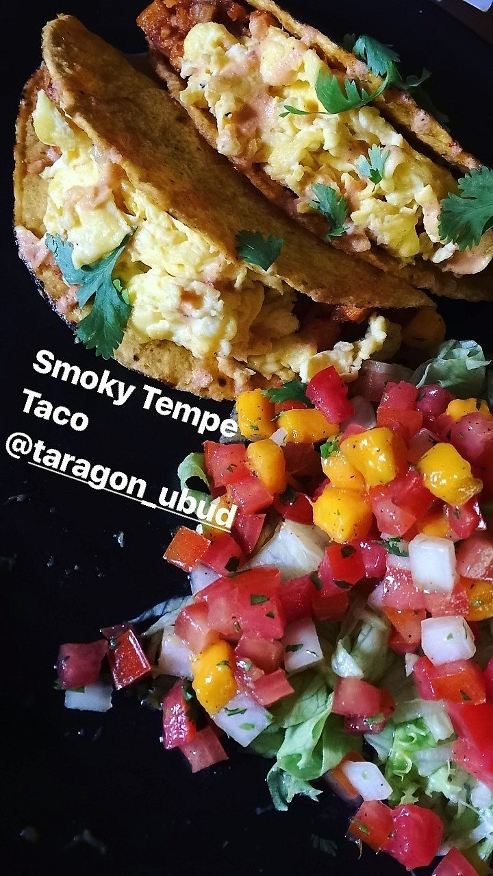 "Photo of Taragon Ubud  by <a href=""/members/profile/GloriaEstafun"">GloriaEstafun</a> <br/>Smoky Tempe Taco  <br/> September 22, 2017  - <a href='/contact/abuse/image/97456/307002'>Report</a>"
