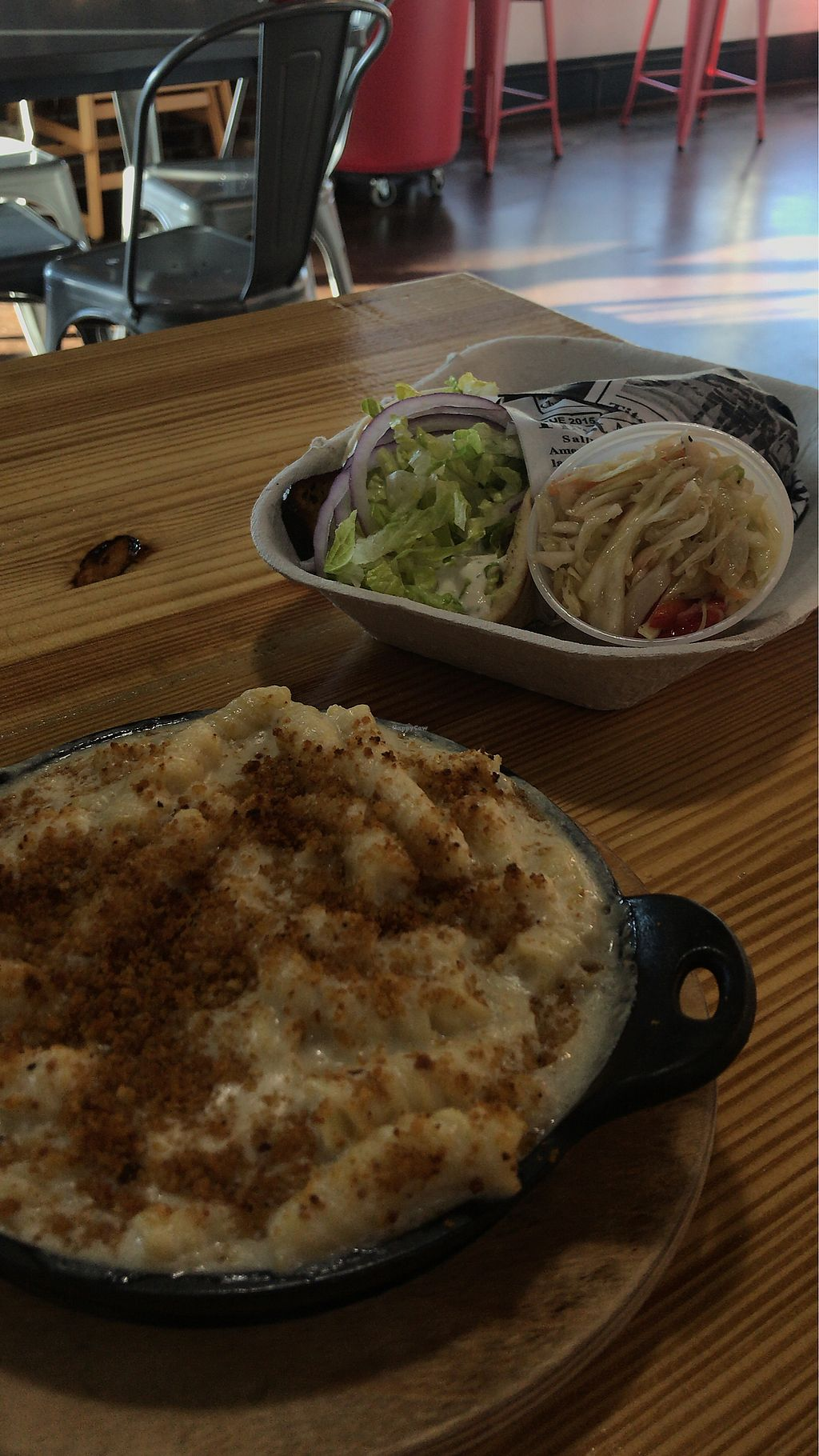 "Photo of The District Bar  by <a href=""/members/profile/alysescotti"">alysescotti</a> <br/>Truffle Mac & Cheese and The Gyro from Banzo  <br/> March 1, 2018  - <a href='/contact/abuse/image/97494/365119'>Report</a>"