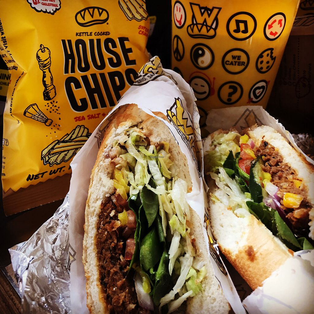 """Photo of Which Wich  by <a href=""""/members/profile/KarenTatur"""">KarenTatur</a> <br/>Bean Patty on White with House Chips <br/> November 25, 2017  - <a href='/contact/abuse/image/97523/329005'>Report</a>"""