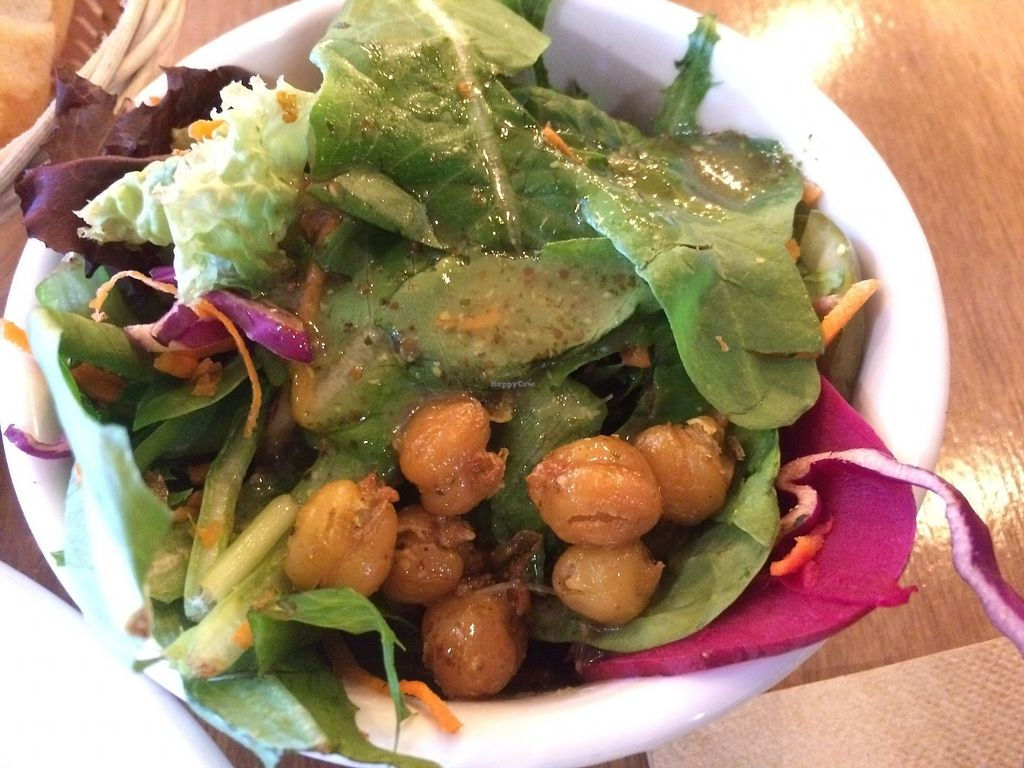 """Photo of Chickpea Restaurant & Food Truck  by <a href=""""/members/profile/Mdrutz"""">Mdrutz</a> <br/>Side salad <br/> October 1, 2017  - <a href='/contact/abuse/image/97524/310739'>Report</a>"""