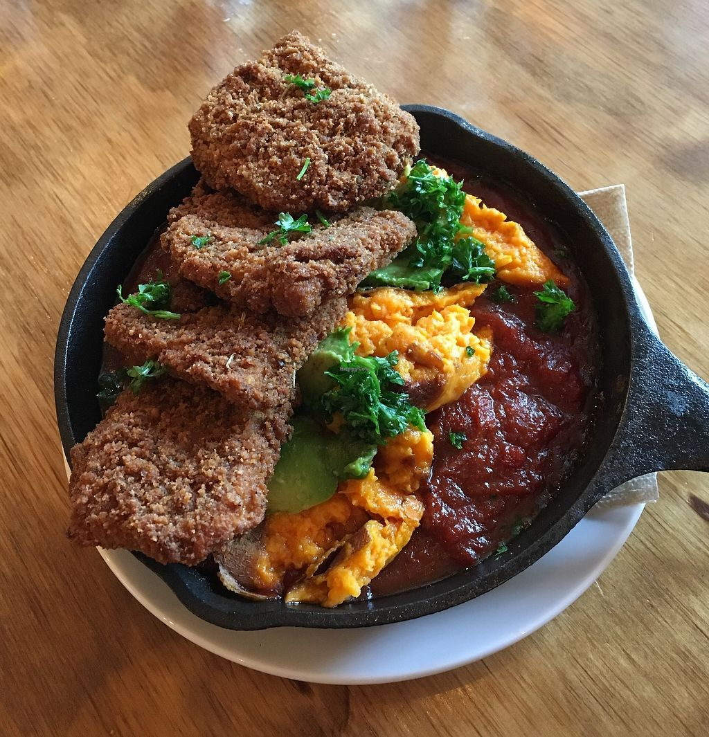 """Photo of Chickpea Restaurant & Food Truck  by <a href=""""/members/profile/vegan%20frog"""">vegan frog</a> <br/>Brunch <br/> April 12, 2018  - <a href='/contact/abuse/image/97524/384313'>Report</a>"""