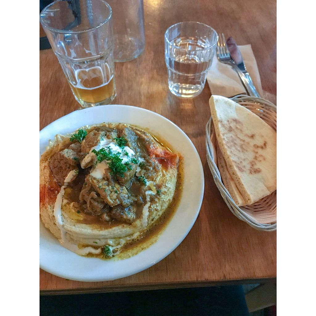 """Photo of Chickpea Restaurant & Food Truck  by <a href=""""/members/profile/ohstephyy"""">ohstephyy</a> <br/>Shawarma with hummus platter <br/> April 14, 2018  - <a href='/contact/abuse/image/97524/385836'>Report</a>"""