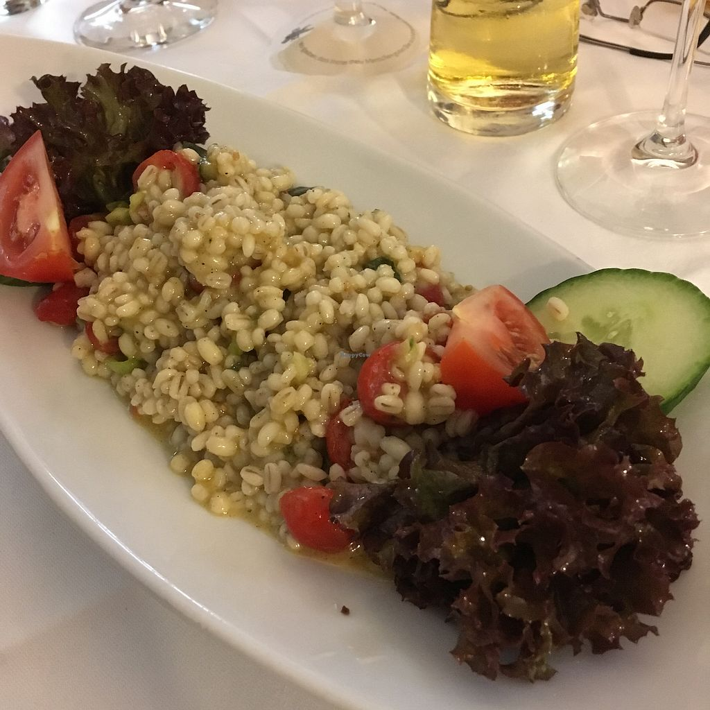 "Photo of Sembries  by <a href=""/members/profile/vegancookie243"">vegancookie243</a> <br/>Pearl barley salad with veggies <br/> September 22, 2017  - <a href='/contact/abuse/image/97544/307155'>Report</a>"