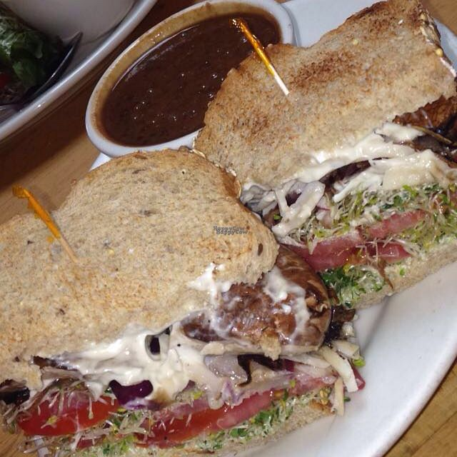 """Photo of Nature's Grill - Ventura  by <a href=""""/members/profile/JewelChamber94"""">JewelChamber94</a> <br/>shroom sandwich  <br/> August 28, 2016  - <a href='/contact/abuse/image/9754/171983'>Report</a>"""
