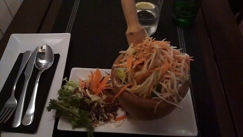 """Photo of Thai Corner  by <a href=""""/members/profile/LeFunks"""">LeFunks</a> <br/>Som Tum (spicy green papaya salad) <br/> December 12, 2017  - <a href='/contact/abuse/image/97550/334998'>Report</a>"""