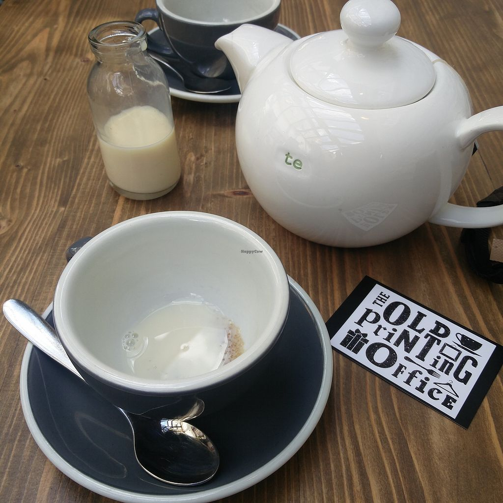 """Photo of The Old Printing Office  by <a href=""""/members/profile/AlteHenne"""">AlteHenne</a> <br/>Teatime. Tea and Coffee available with Soy Milk <br/> July 31, 2017  - <a href='/contact/abuse/image/97567/287298'>Report</a>"""