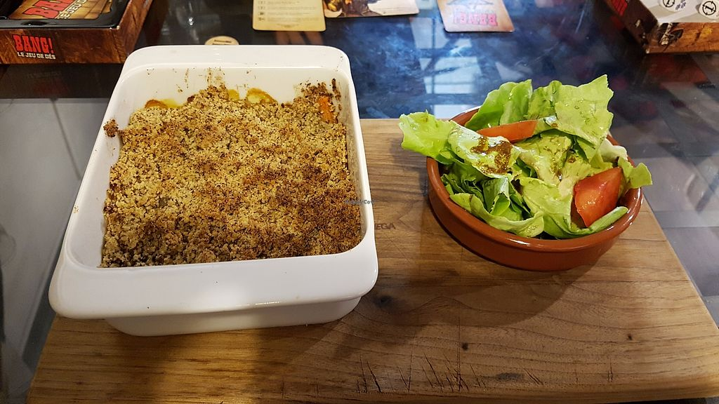 "Photo of Yggdrasil - Les Comptoirs Argot  by <a href=""/members/profile/JonJon"">JonJon</a> <br/>Vegetable crumble <br/> August 21, 2017  - <a href='/contact/abuse/image/97594/295276'>Report</a>"
