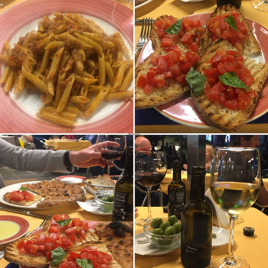 "Photo of Fauno Bar  by <a href=""/members/profile/Natj3000"">Natj3000</a> <br/>Penne soya ragu, bruschetta, focaccia  <br/> May 8, 2018  - <a href='/contact/abuse/image/97606/397052'>Report</a>"