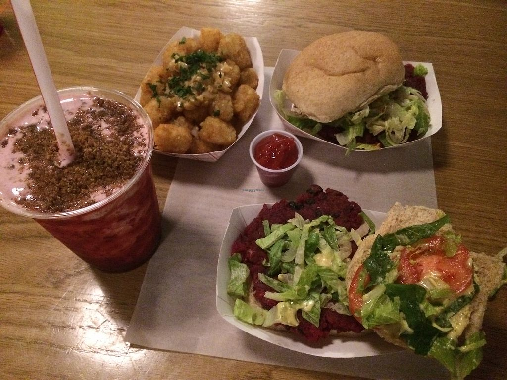 """Photo of The Playhouse & Swillburger  by <a href=""""/members/profile/fruitiJulie"""">fruitiJulie</a> <br/>Burgers, shake and potatoes <br/> October 31, 2017  - <a href='/contact/abuse/image/97610/320406'>Report</a>"""