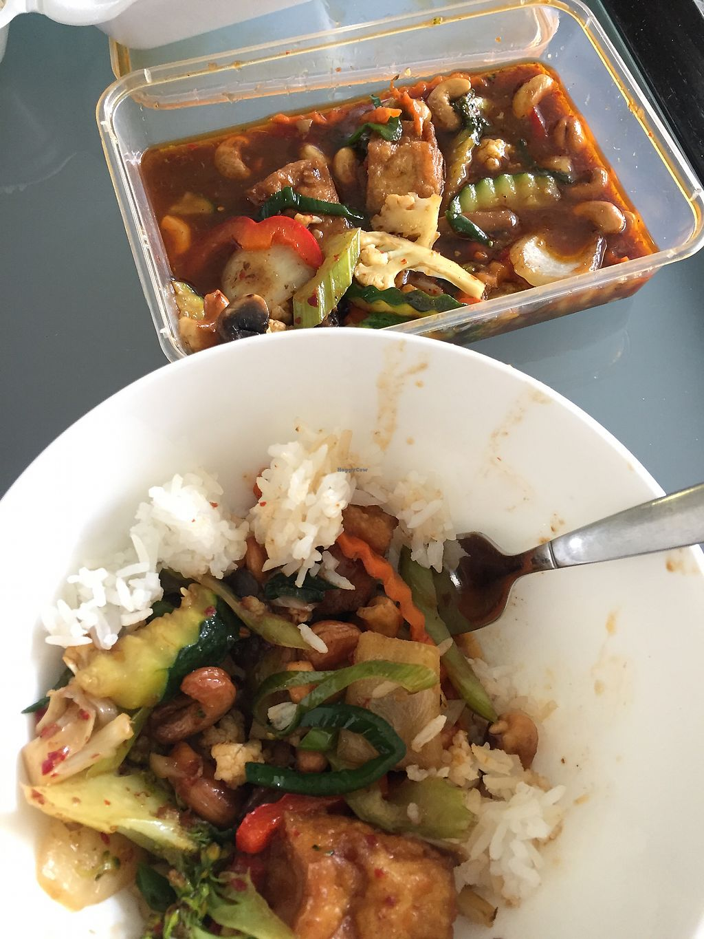 "Photo of Thai Container  by <a href=""/members/profile/melindaverity"">melindaverity</a> <br/>tofu cashew nut & vegetables, served with rice. vegan <br/> December 19, 2017  - <a href='/contact/abuse/image/97612/337132'>Report</a>"