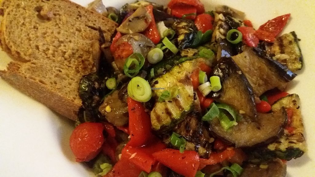 """Photo of Il Borgo  by <a href=""""/members/profile/Mmmmvegan"""">Mmmmvegan</a> <br/>Insalata di Verdure - salad with grilled vegetables  <br/> August 1, 2017  - <a href='/contact/abuse/image/97621/287587'>Report</a>"""