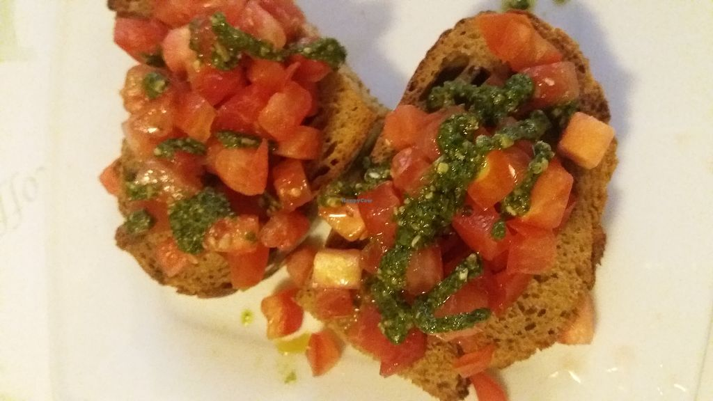 """Photo of Il Borgo  by <a href=""""/members/profile/Mmmmvegan"""">Mmmmvegan</a> <br/>Bruschetta al pomodoro <br/> August 1, 2017  - <a href='/contact/abuse/image/97621/287588'>Report</a>"""