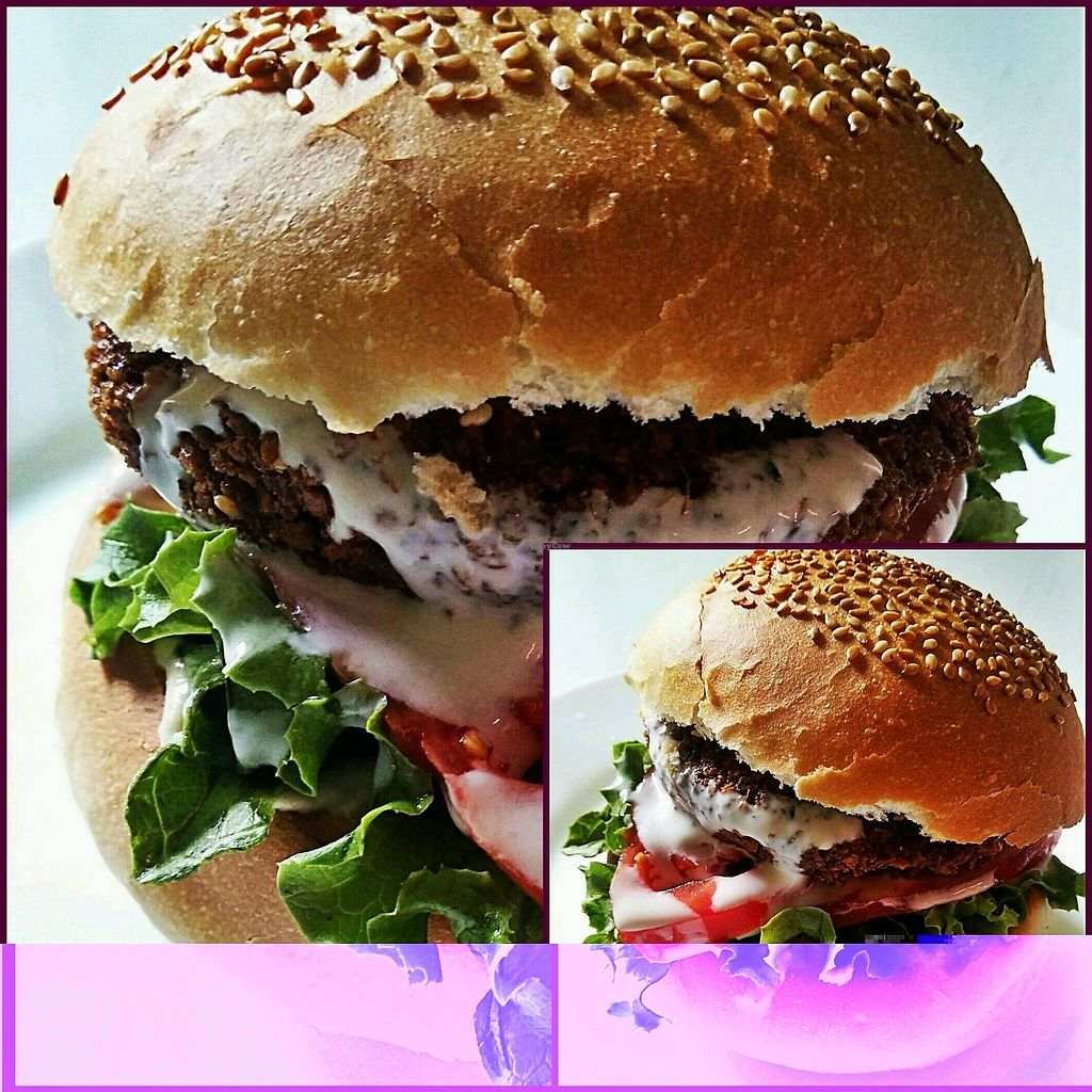 """Photo of Fari's Delice  by <a href=""""/members/profile/Fari%27sDelice"""">Fari'sDelice</a> <br/>Falafel Burger? <br/> November 6, 2017  - <a href='/contact/abuse/image/97633/322608'>Report</a>"""