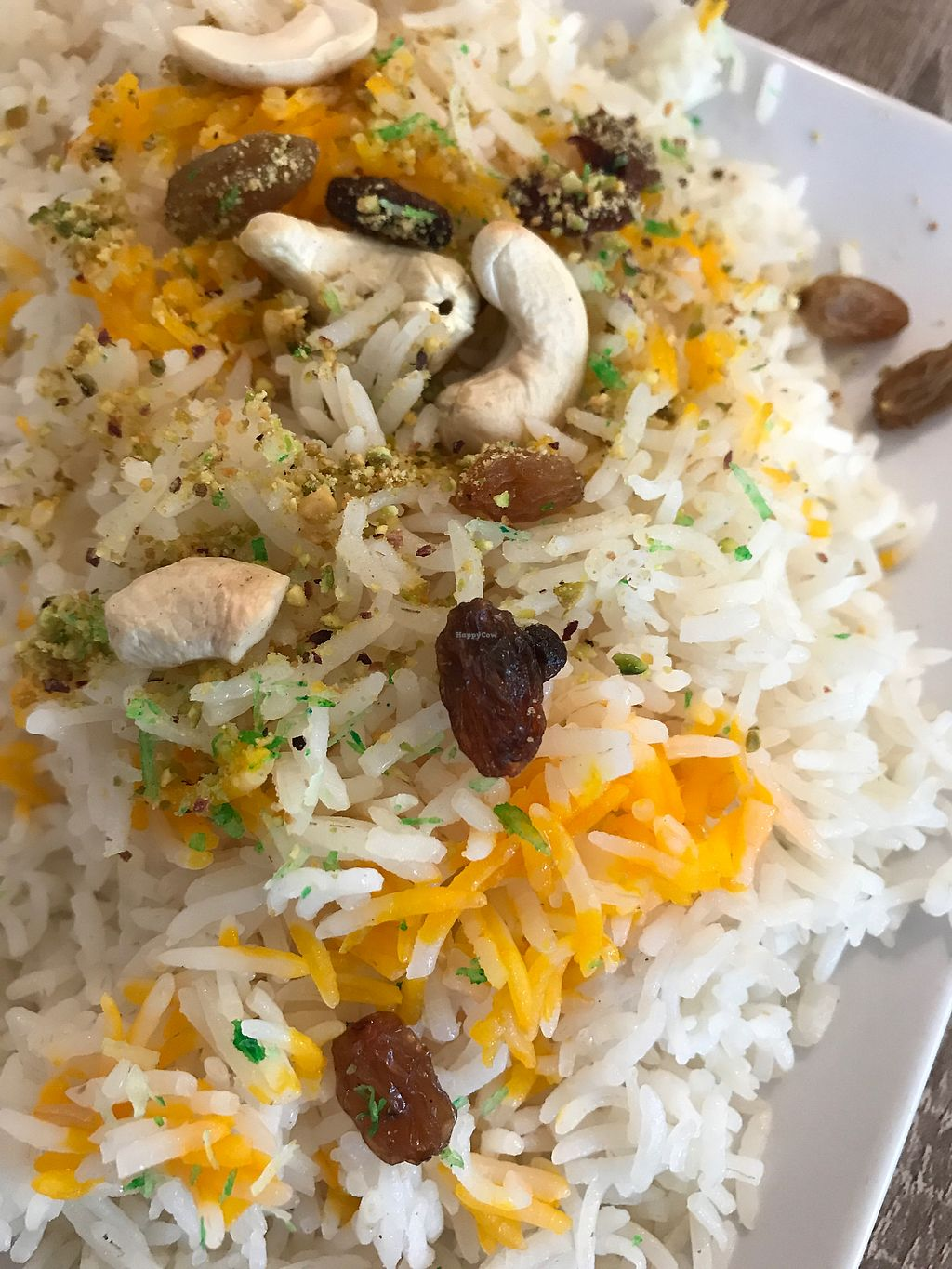 "Photo of Spice Garden  by <a href=""/members/profile/Maximillian"">Maximillian</a> <br/>Palau rice with cashew nuts and raisins <br/> August 7, 2017  - <a href='/contact/abuse/image/97637/290197'>Report</a>"