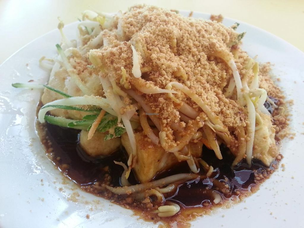 """Photo of Divine Vegetarian Family Restaurant  by <a href=""""/members/profile/Bekind"""">Bekind</a> <br/>Vegetarian Taohu Goreng. Generous serving of fried bean curd, with toppings of cucumber, bean sprouts and peanut. Delicious!  <br/> January 2, 2015  - <a href='/contact/abuse/image/9763/89393'>Report</a>"""