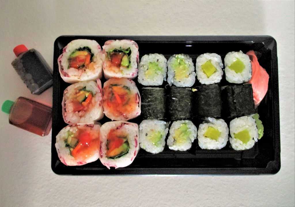 """Photo of BBS Restaurant  by <a href=""""/members/profile/ConnieB"""">ConnieB</a> <br/>Red maki with avocado, cucumber, carrot and tomato, avocado maki, radish maki (takeout) <br/> August 15, 2017  - <a href='/contact/abuse/image/97651/293019'>Report</a>"""