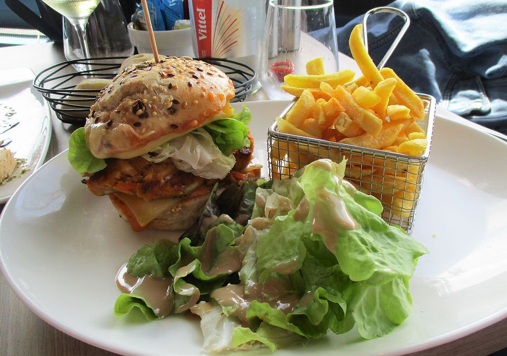 "Photo of La Plage de Monsieur Hulot  by <a href=""/members/profile/ConnieB"">ConnieB</a> <br/>Veggie burger <br/> August 5, 2017  - <a href='/contact/abuse/image/97655/289428'>Report</a>"
