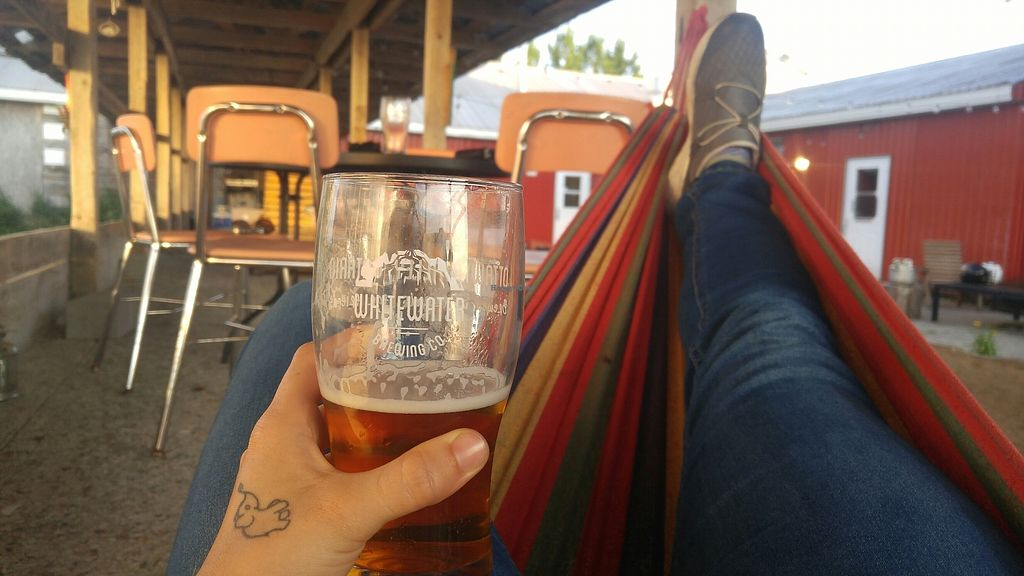 """Photo of Whitewater Brewing Co  by <a href=""""/members/profile/LauraJones89"""">LauraJones89</a> <br/>beer and hammocks. Does it get any better? <br/> August 2, 2017  - <a href='/contact/abuse/image/97656/287920'>Report</a>"""