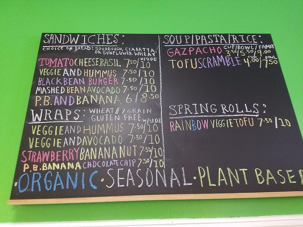 """Photo of Healthy Harvest Urban Farms & Cafe  by <a href=""""/members/profile/ChristyEMurphy"""">ChristyEMurphy</a> <br/>Good stuff at the cafe and grocery minus the eggs, dairy, and fish! Would love to see this place with the courage and bravery to be 100% plant based, no animals or animal secretions on their shelves ??? <br/> October 18, 2017  - <a href='/contact/abuse/image/97666/316420'>Report</a>"""