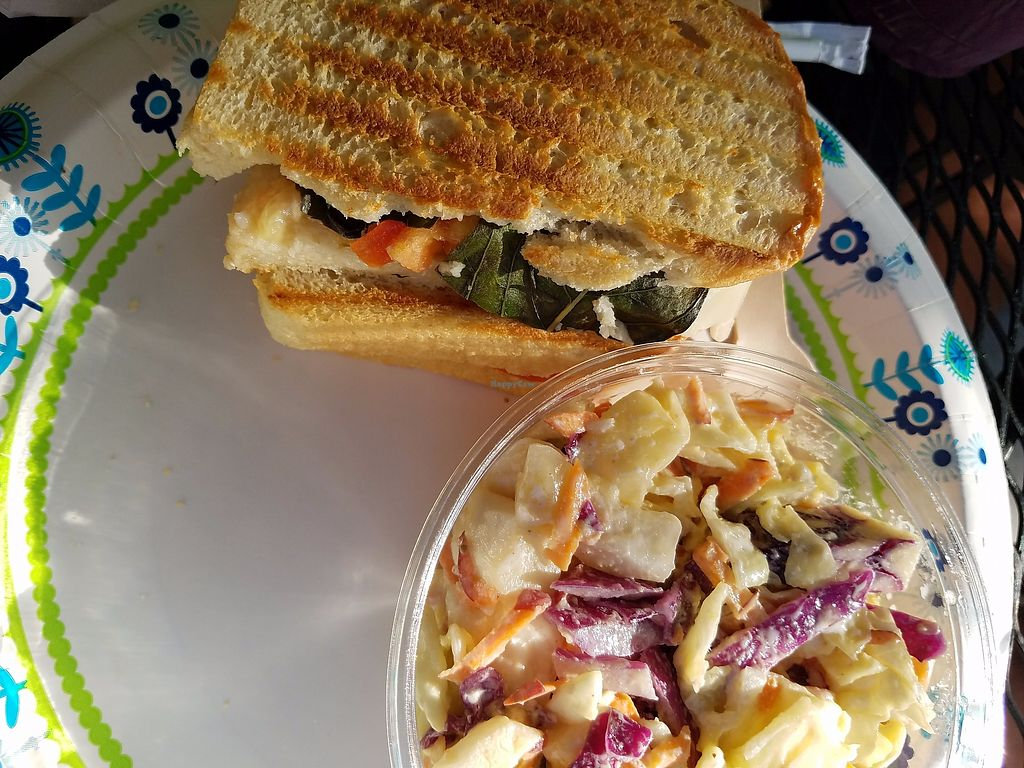 """Photo of Healthy Harvest Urban Farms & Cafe  by <a href=""""/members/profile/ChristyEMurphy"""">ChristyEMurphy</a> <br/>Vegan blt with a veg cheese and Cole slaw ( could have been more funley chopped) overall good! 6 out of 10!  <br/> October 18, 2017  - <a href='/contact/abuse/image/97666/316421'>Report</a>"""
