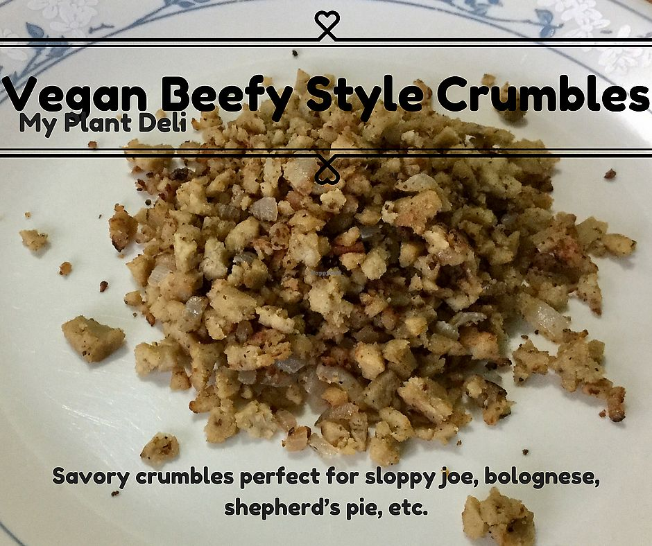 """Photo of My Plant Deli  by <a href=""""/members/profile/myplantdeli"""">myplantdeli</a> <br/>Vegan beefy style crumbles. Great for cooking so many things like chili, taco filling, Spaghetti Bolognese, and more!  <br/> October 25, 2017  - <a href='/contact/abuse/image/97685/318747'>Report</a>"""