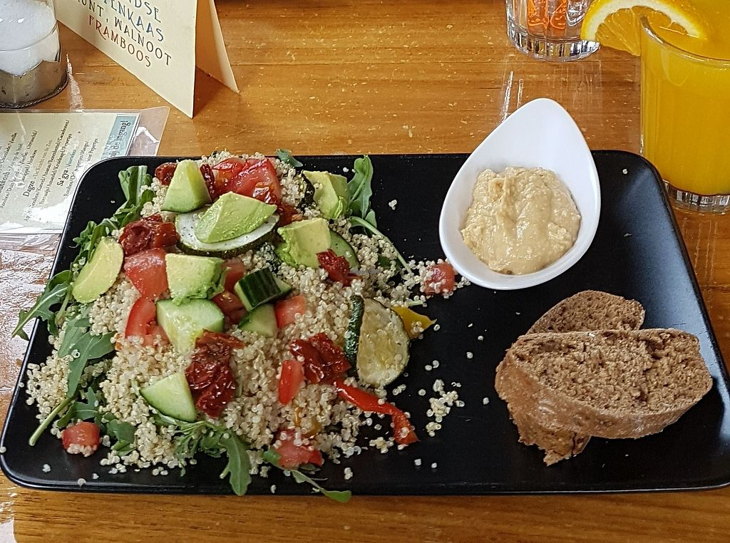 "Photo of Coffee Corazon  by <a href=""/members/profile/Linda90"">Linda90</a> <br/>Quinoa salad and fresh orange juice <br/> August 3, 2017  - <a href='/contact/abuse/image/97686/288151'>Report</a>"