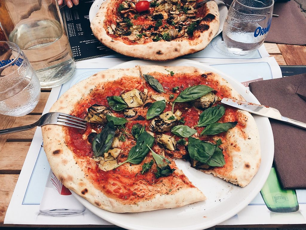 "Photo of La Dispensa Pizzeria  by <a href=""/members/profile/jenny_noisy"">jenny_noisy</a> <br/>amazing Marinera pizza with tomato, garlic, origan and some artichoke and basilic in extra <br/> August 3, 2017  - <a href='/contact/abuse/image/97694/288188'>Report</a>"