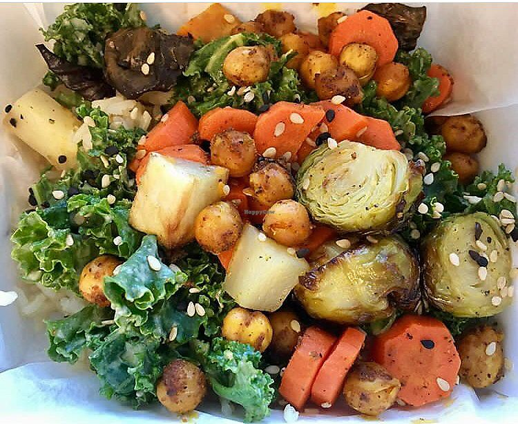 """Photo of Anaya Coffee  by <a href=""""/members/profile/clovely.vegan"""">clovely.vegan</a> <br/>Winter veggie and chickpea Buddha bowl <br/> August 3, 2017  - <a href='/contact/abuse/image/97699/288206'>Report</a>"""