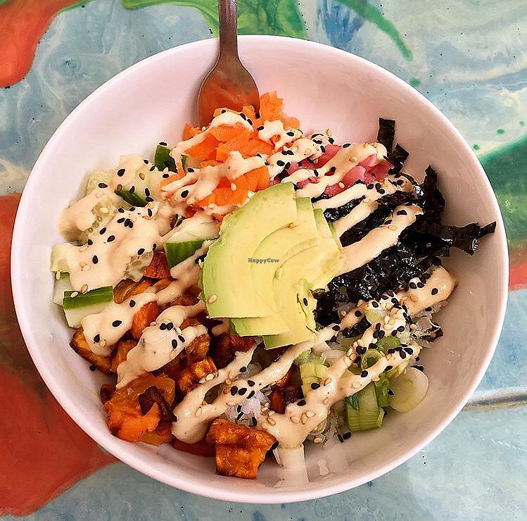 """Photo of Anaya Coffee  by <a href=""""/members/profile/clovely.vegan"""">clovely.vegan</a> <br/>Vegetarian sushi bowl <br/> August 3, 2017  - <a href='/contact/abuse/image/97699/288221'>Report</a>"""