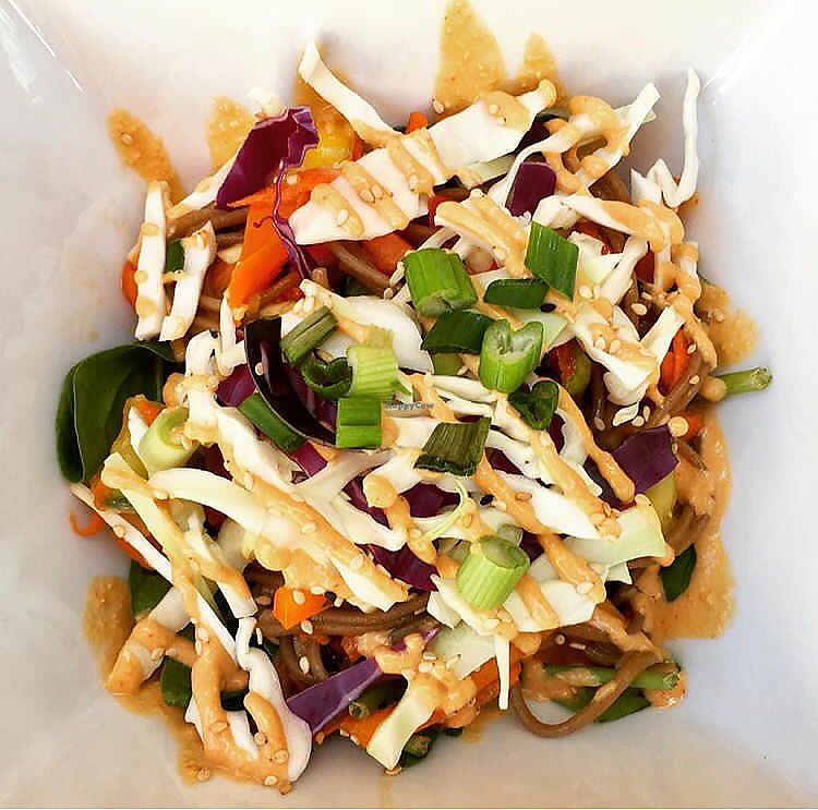 """Photo of Anaya Coffee  by <a href=""""/members/profile/clovely.vegan"""">clovely.vegan</a> <br/>Sesame noodle bowl <br/> August 3, 2017  - <a href='/contact/abuse/image/97699/288223'>Report</a>"""