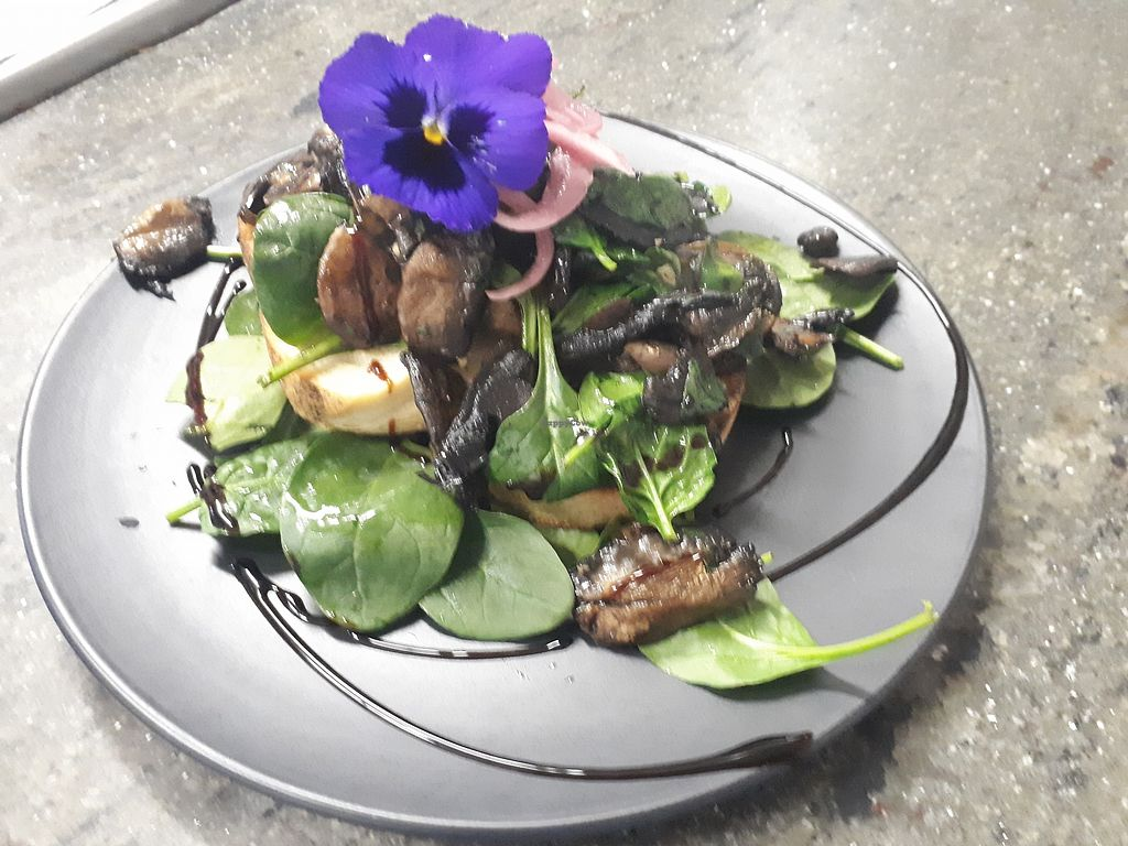 "Photo of Sensations Cafe  by <a href=""/members/profile/thegreenfig"">thegreenfig</a> <br/>Vegan mushroom bruschetta  <br/> November 22, 2017  - <a href='/contact/abuse/image/97702/328098'>Report</a>"