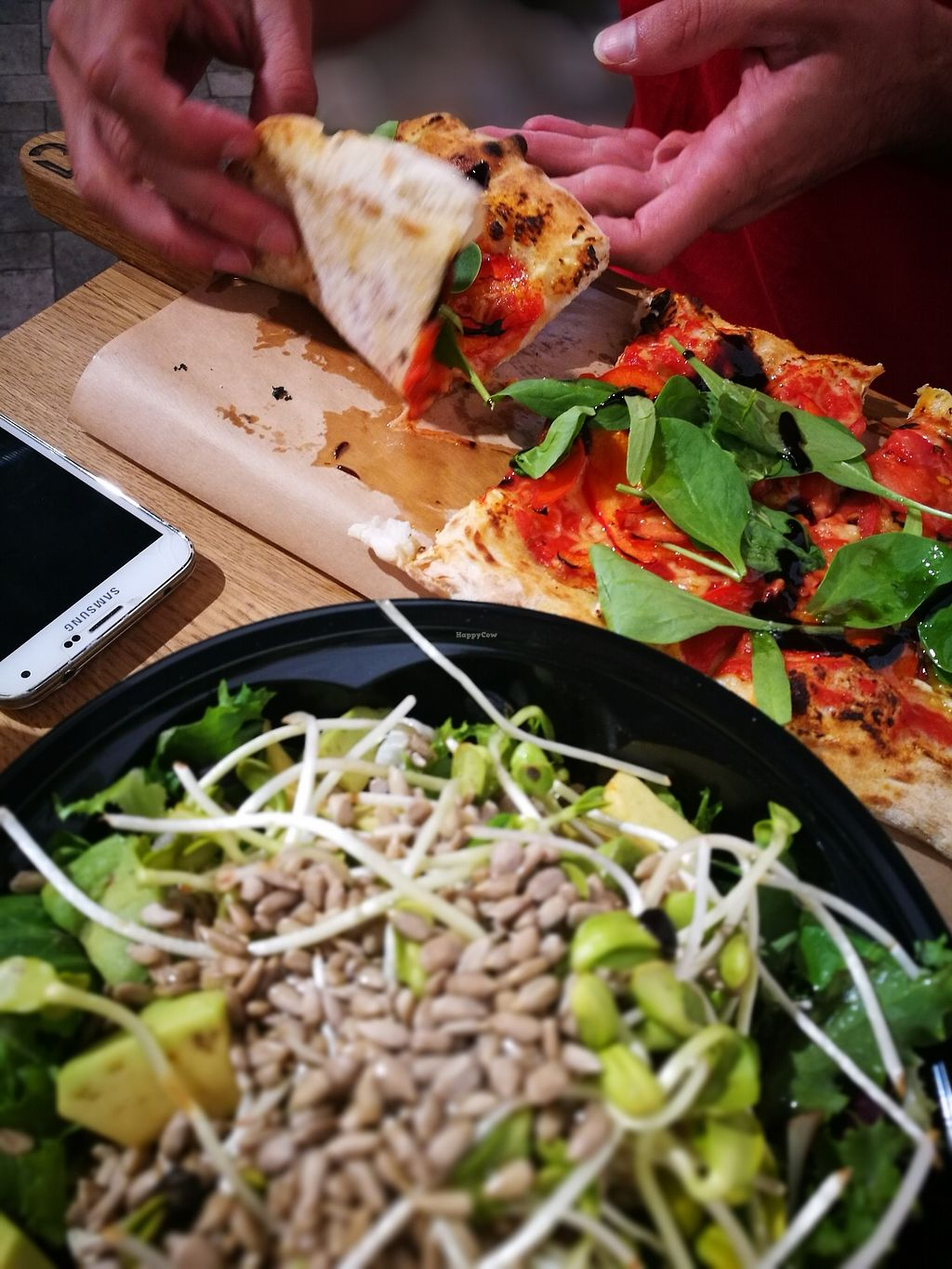 """Photo of Pizzatopia  by <a href=""""/members/profile/k-girl80"""">k-girl80</a> <br/>Pizza and salad <br/> October 12, 2017  - <a href='/contact/abuse/image/97708/314519'>Report</a>"""