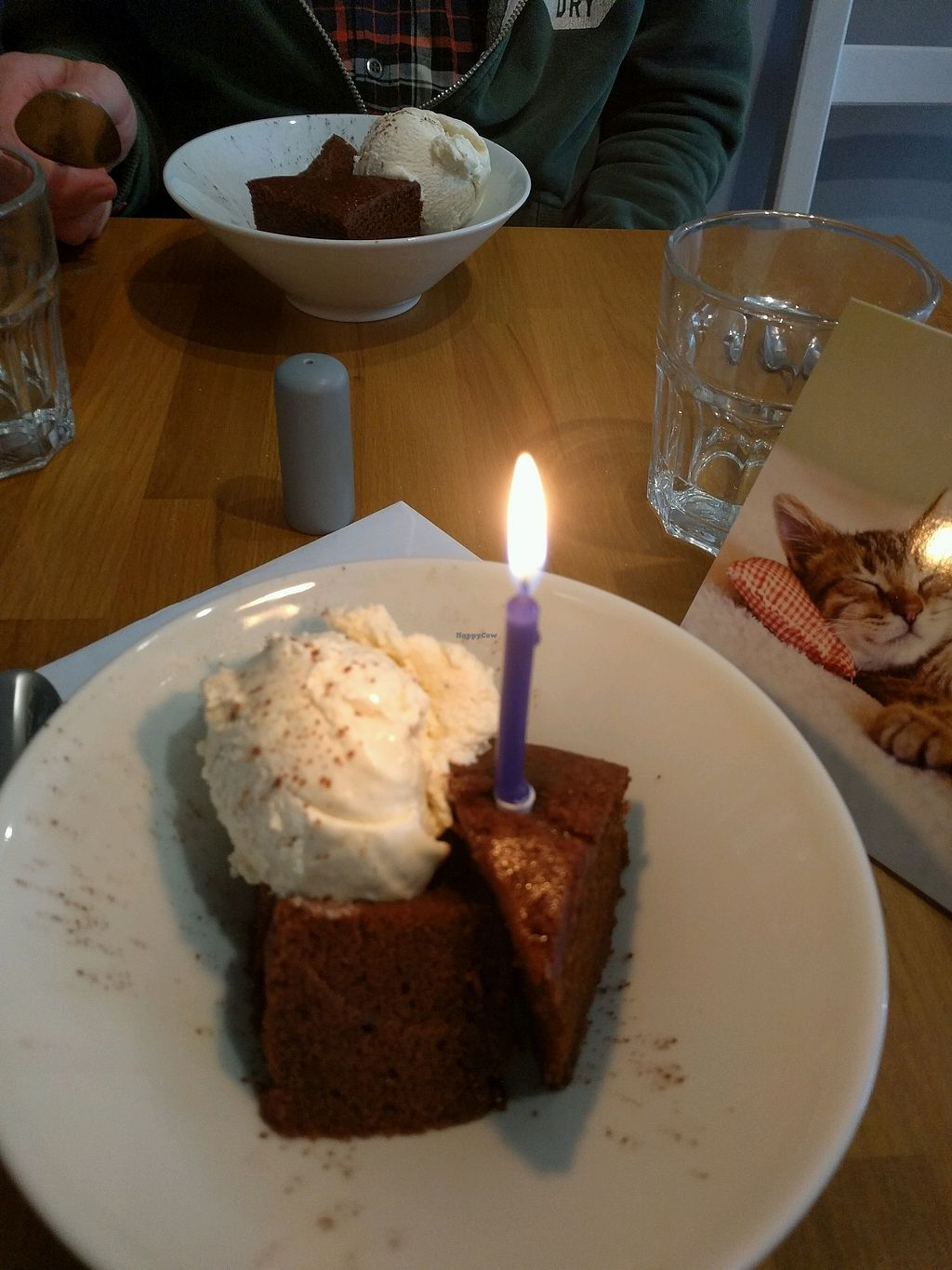"""Photo of Potato Tomato - The Eatery  by <a href=""""/members/profile/ZolaSpud"""">ZolaSpud</a> <br/>Birthday brownie! <br/> September 11, 2017  - <a href='/contact/abuse/image/97735/303187'>Report</a>"""