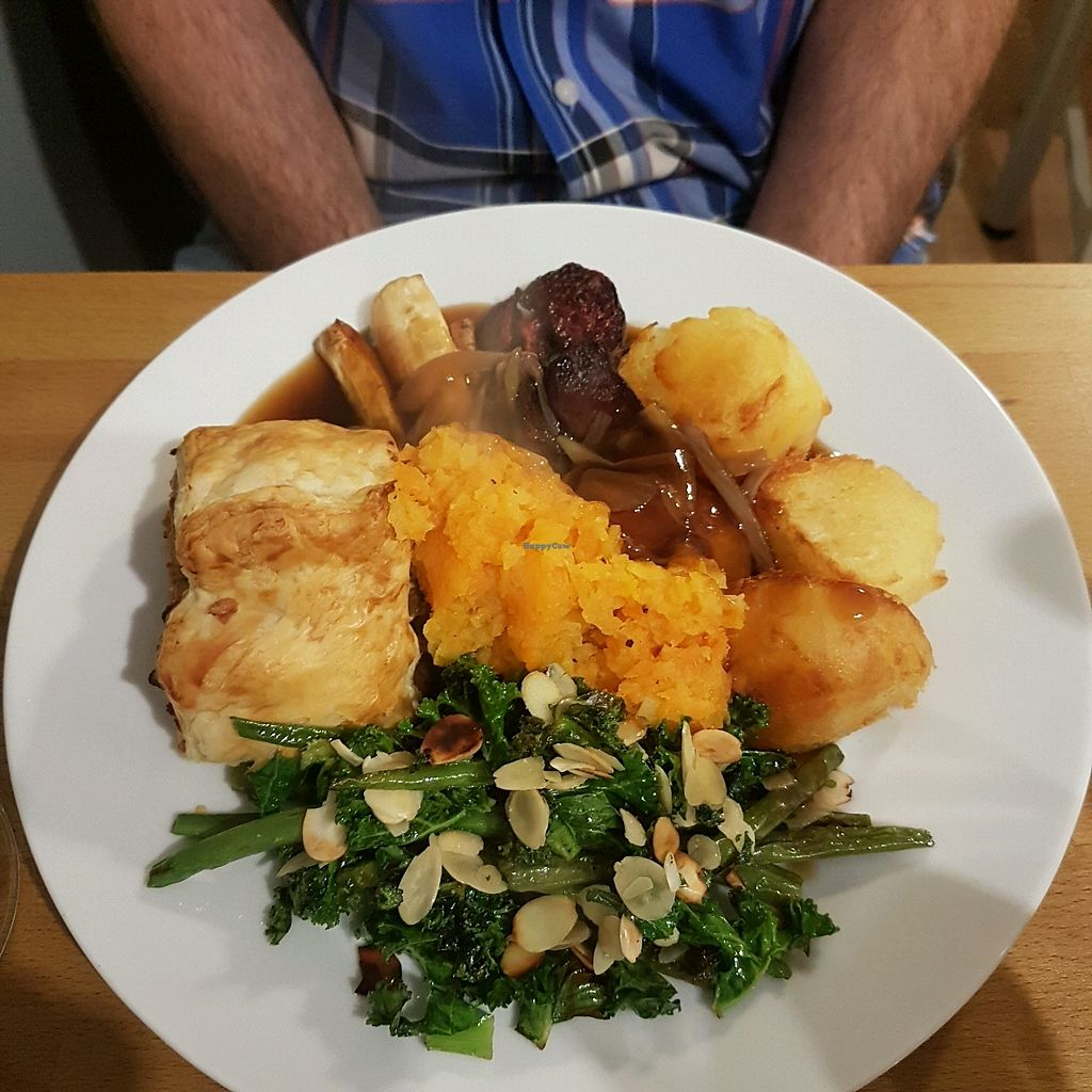 """Photo of Potato Tomato - The Eatery  by <a href=""""/members/profile/LucySamways"""">LucySamways</a> <br/>seitan and stuffing Wellington and all the trimmings  <br/> November 26, 2017  - <a href='/contact/abuse/image/97735/329486'>Report</a>"""