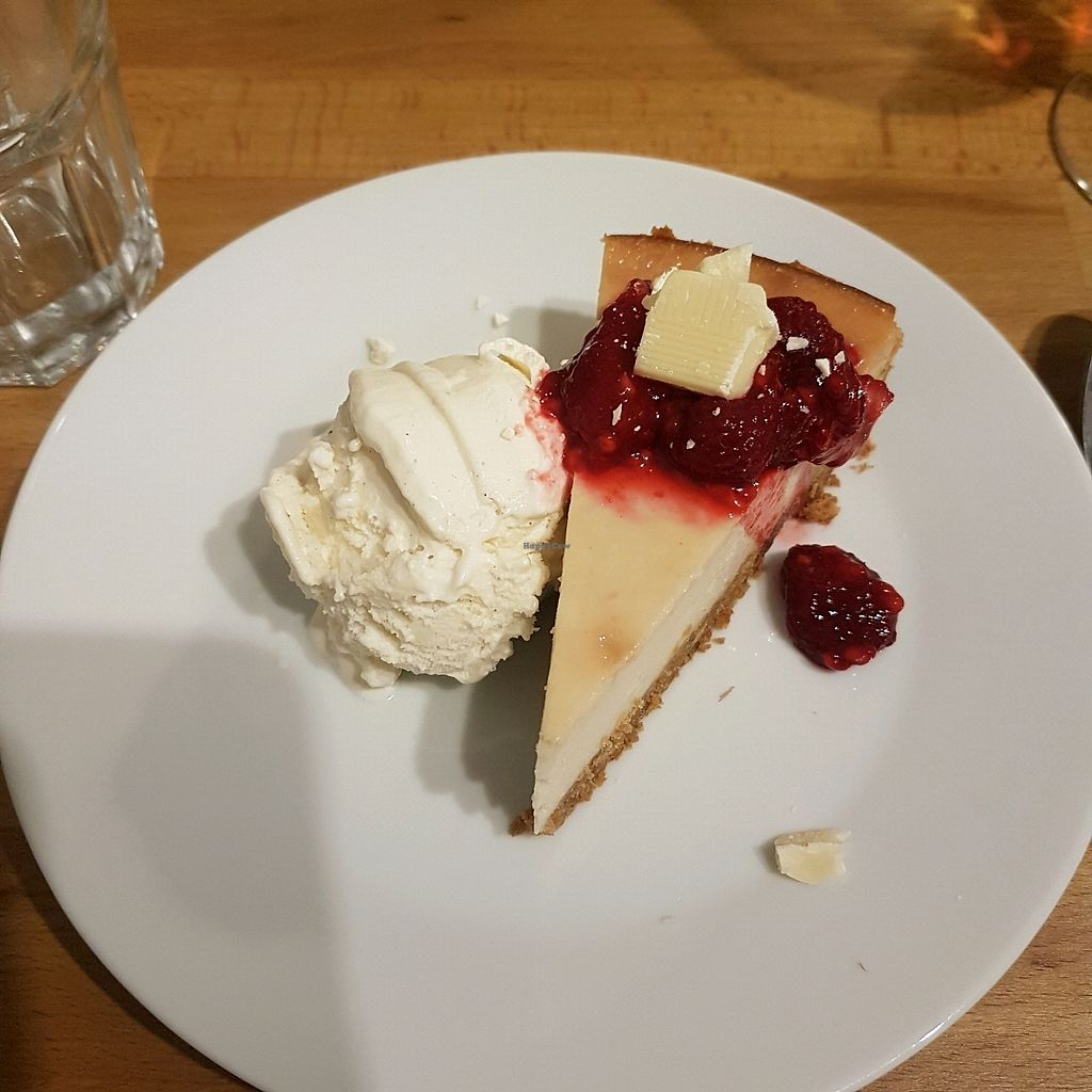 """Photo of Potato Tomato - The Eatery  by <a href=""""/members/profile/LucySamways"""">LucySamways</a> <br/>White choc and raspberry cheesecake  <br/> November 26, 2017  - <a href='/contact/abuse/image/97735/329487'>Report</a>"""