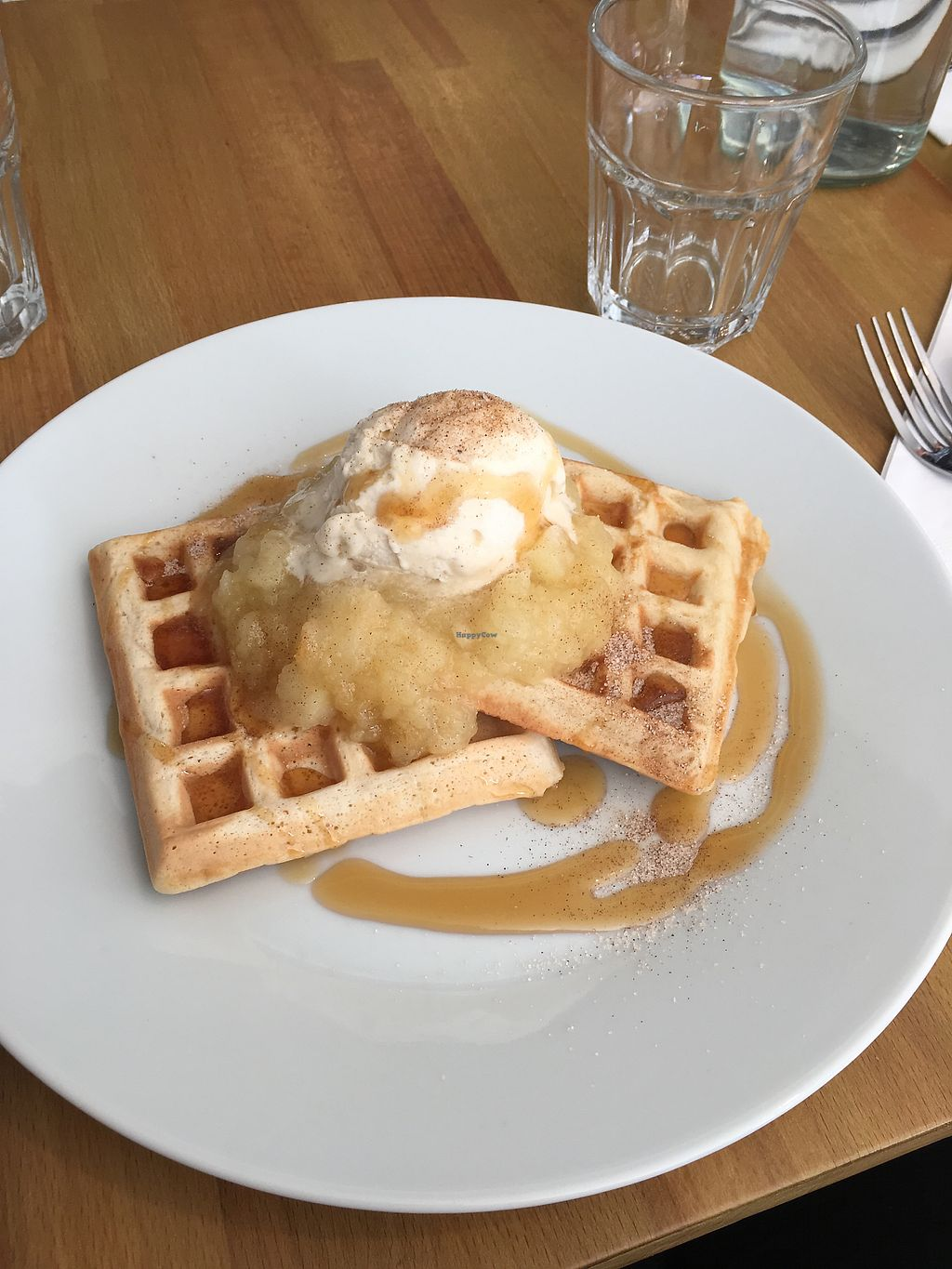 """Photo of Potato Tomato - The Eatery  by <a href=""""/members/profile/LucyGwyther"""">LucyGwyther</a> <br/>Vegan waffles with apple <br/> January 7, 2018  - <a href='/contact/abuse/image/97735/343966'>Report</a>"""