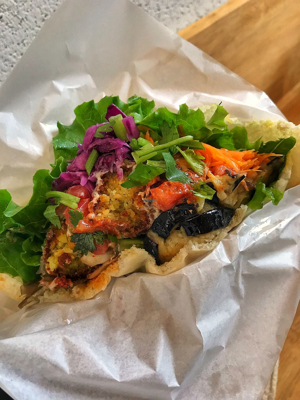 """Photo of Ballon  by <a href=""""/members/profile/EriJimbo"""">EriJimbo</a> <br/>Inside the yummy falafel sandwich  <br/> October 20, 2017  - <a href='/contact/abuse/image/97750/316976'>Report</a>"""