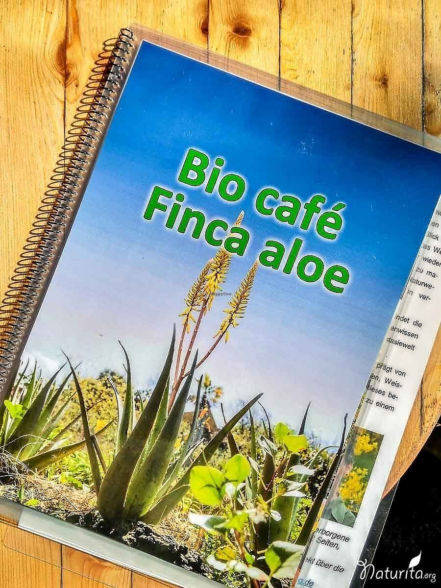 "Photo of Finca Aloe  by <a href=""/members/profile/Naturita"">Naturita</a> <br/>The menu <br/> January 16, 2018  - <a href='/contact/abuse/image/97756/347328'>Report</a>"