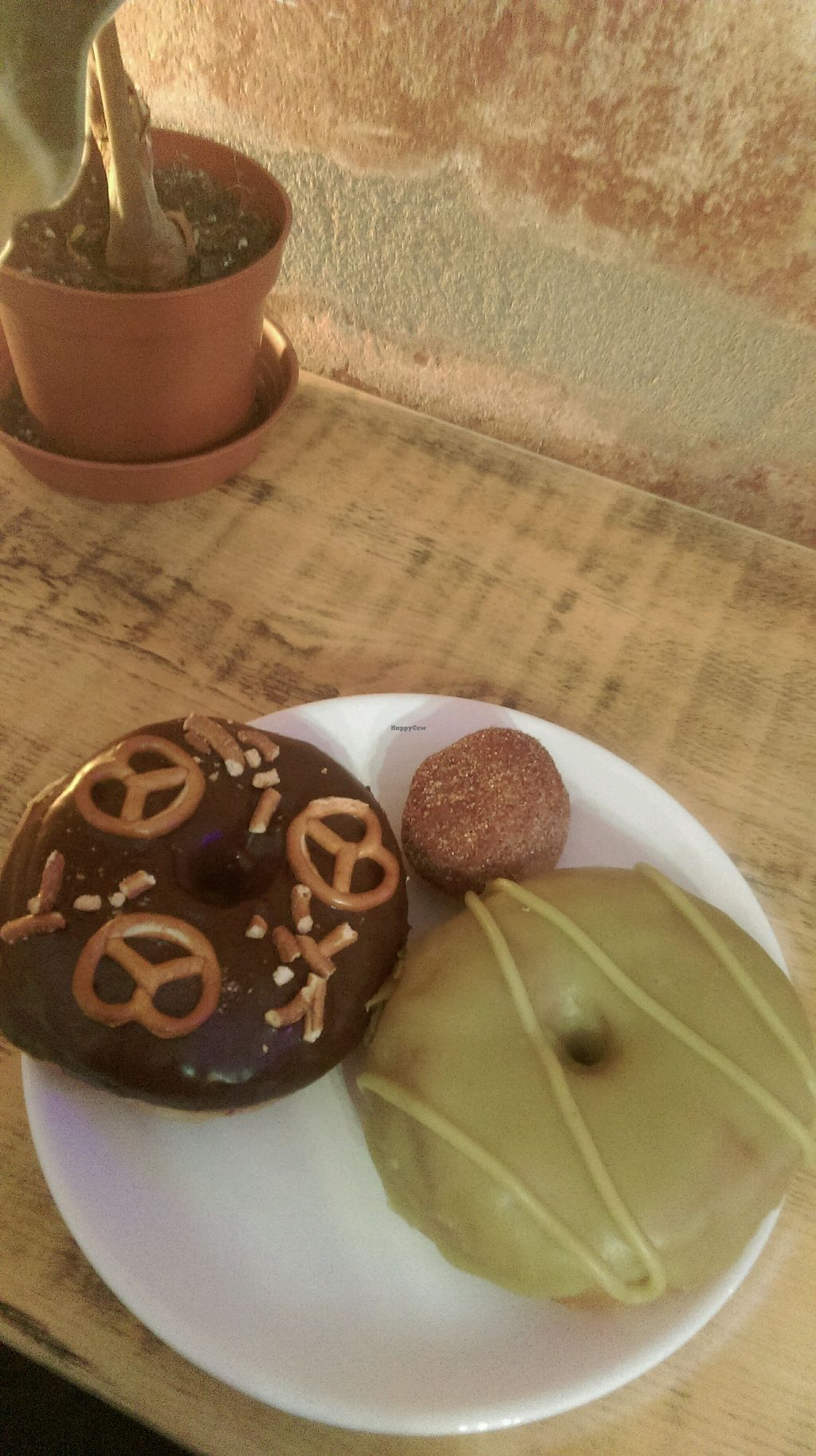 """Photo of Donut Shop  by <a href=""""/members/profile/Sirimande"""">Sirimande</a> <br/>matcha, pretzel with Chocolate and a cinnamon ball  <br/> April 2, 2018  - <a href='/contact/abuse/image/97758/379842'>Report</a>"""